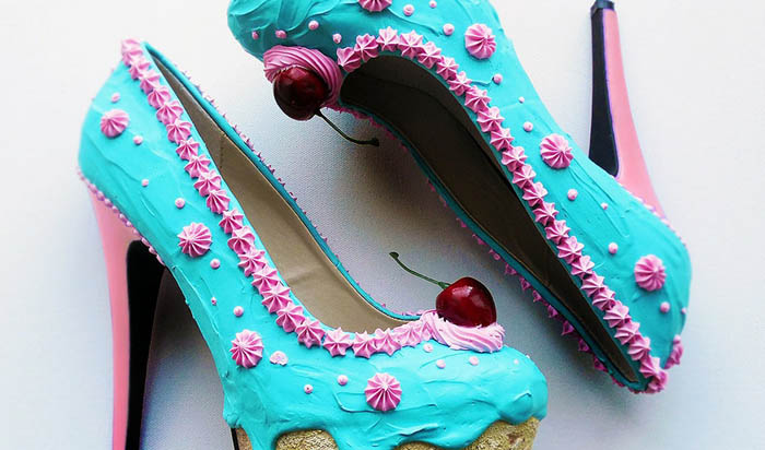 Туфли в виде сладостей от Chris Campbell.