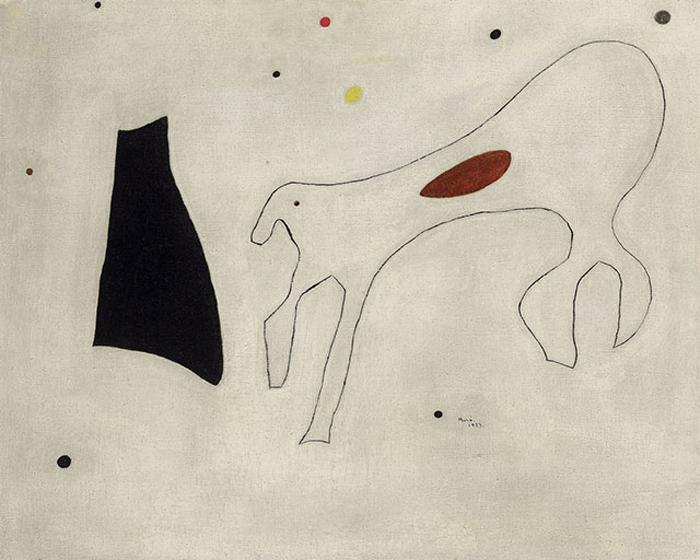 *Peinture (Le Chien)* Joan Miro.