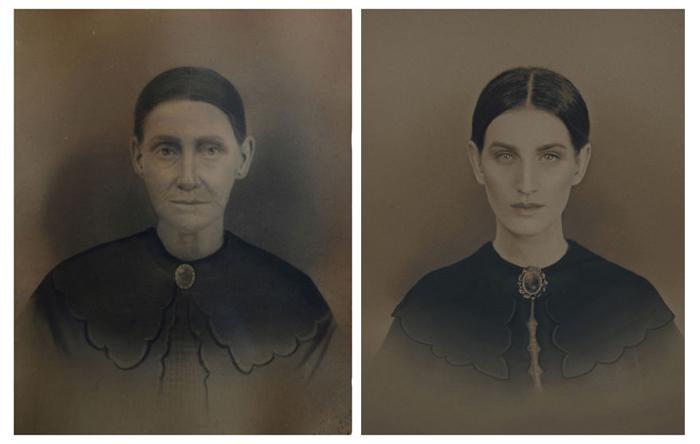 Пра-пра-прабабушука Марта (род. 1821г.) и Кристин