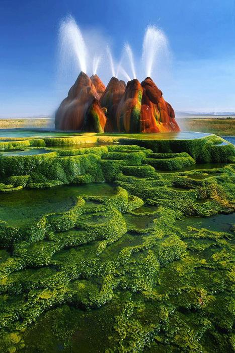 Гейзер Флай, штат Невада, США.