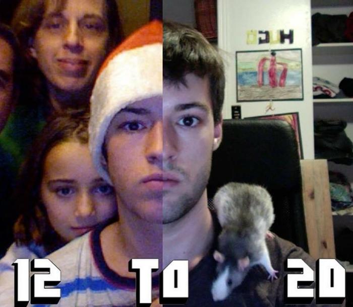 С 12 до 20 лет.