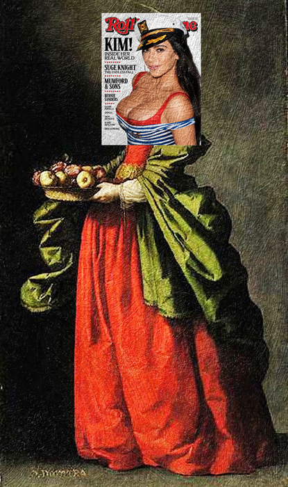 Ким Кардашьян + *Санта Доротеа* Франциско де Зурбарана.