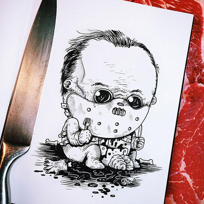 Малыш Ганнибал Лектер.