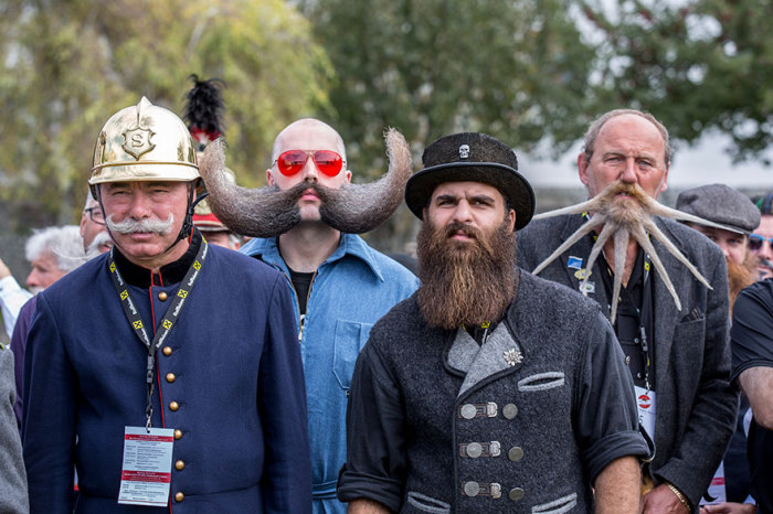 Участники чемпионата усов и бород.