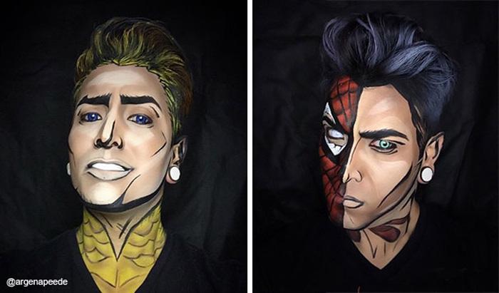 Aquaman и Spiderman.