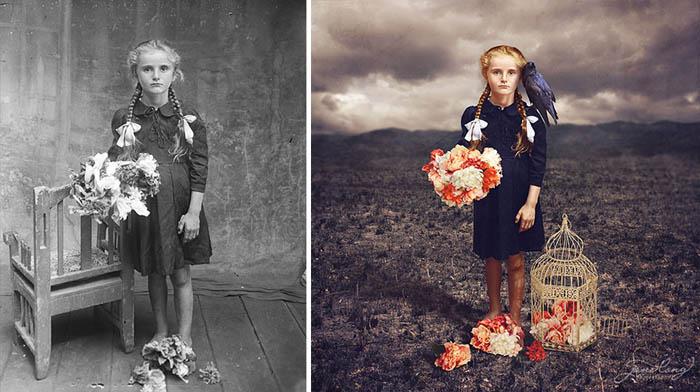 Corvo - Джейн Лонг дает вторую жизнь старым фотографиям.