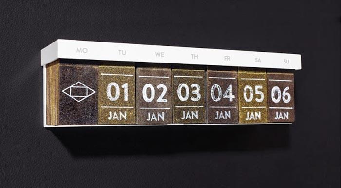 Календарь из чая от Hassen & lyon.
