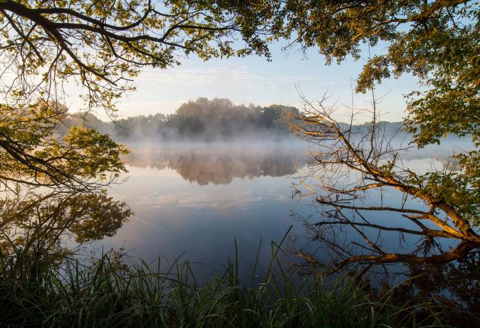 Утро на озере, Германия. 1 октября 2015г.
