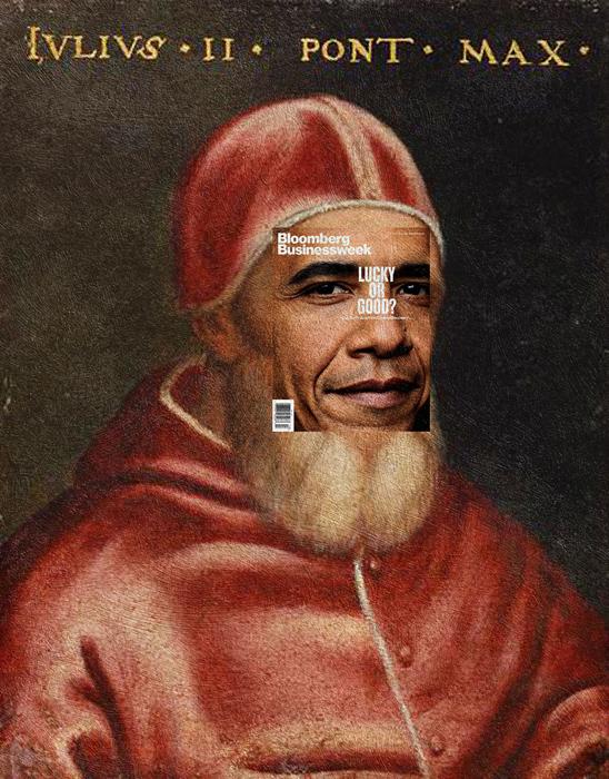 Барак Обама + *Юлиус II* Рафаэля.