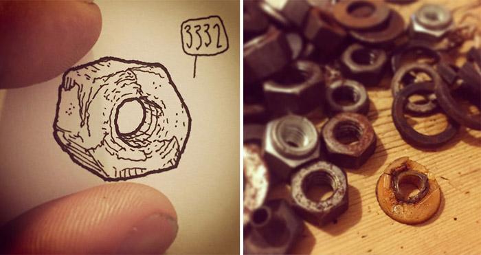 Lee John Phillips зарисовывает даже мелкие вещички.