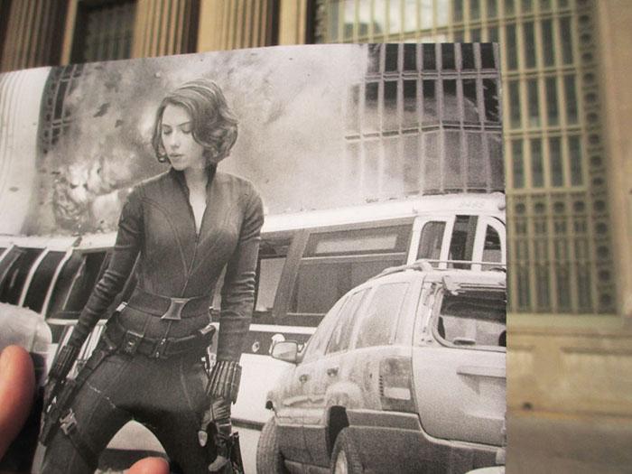 Очаровательная Скарлетт Йоханссон в фильме «Мстители».