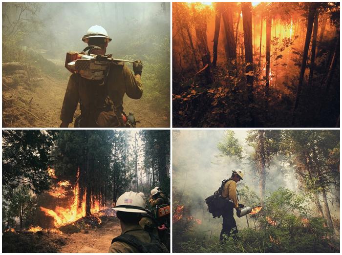 Фотографии больших пожаров из первых рук.