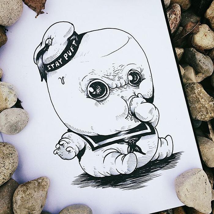 Малыш Зефирный человечек.