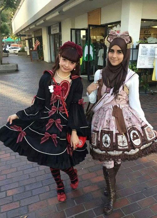 Тренд на японских анимэ-лолит.