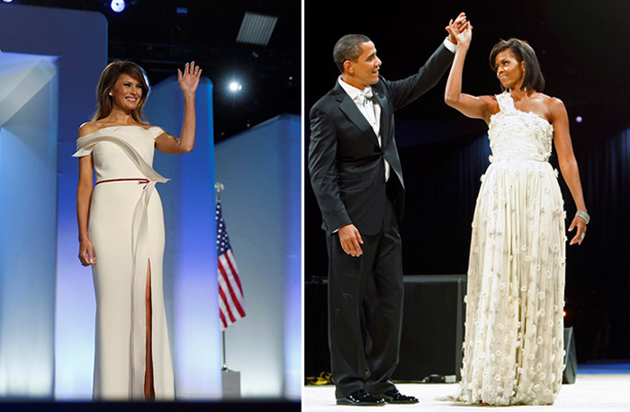 Наряды первых леди США на инаугурации мужей за последние сто лет.