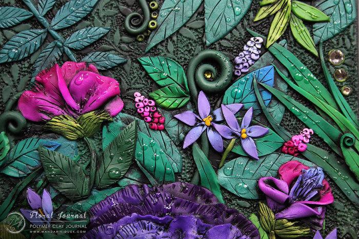Цветы на блокноте от Mandarin Duck.