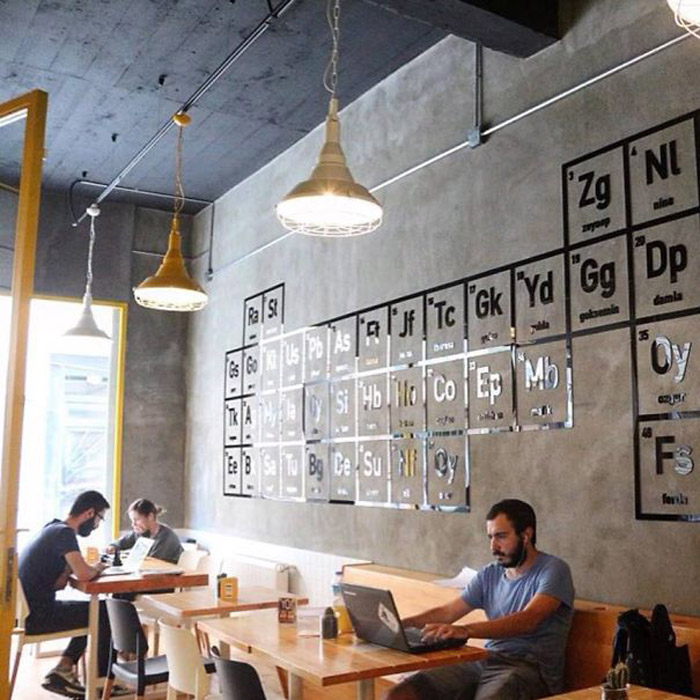 Тематическое кафе в Стамбуле Walter's Coffee Roastery.