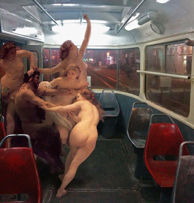 Немного подеборишить в общественном транспорте.