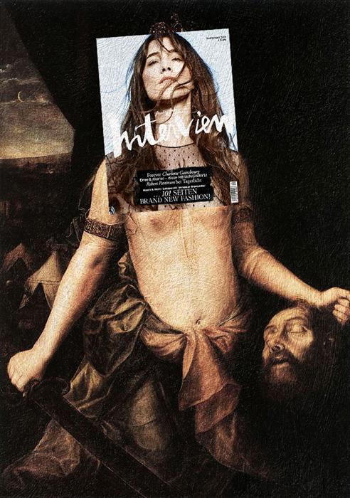 Шарлотта Гинсбург + *Judith with the Head of Holofernes* Ян Массейс.