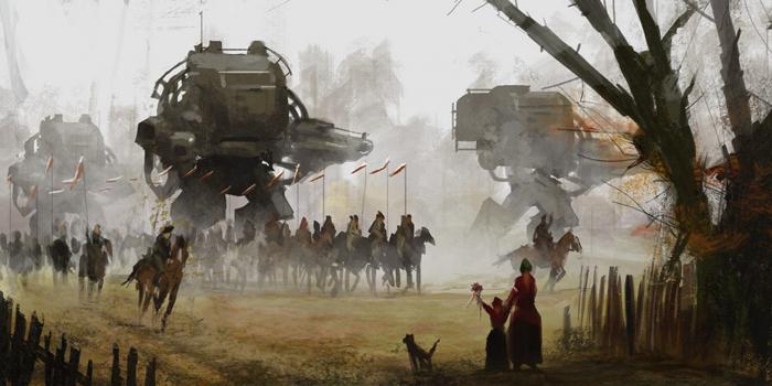 Марш. Картины Якуба Розальски.
