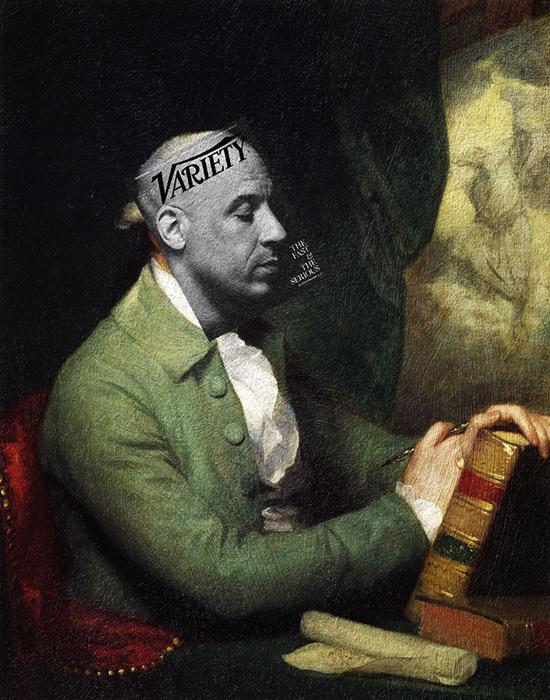 Вин Дизель + *Бержамин Вест* Гилберта Стюарта.