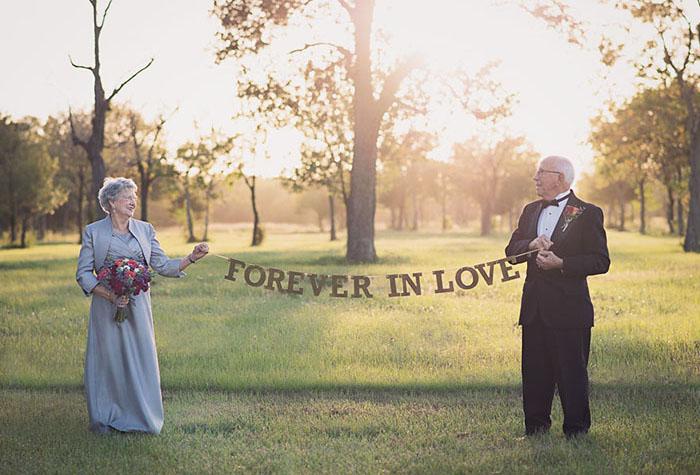 Фотосессия в честь 70-летнего юбилея свадьбы. Фото: Lara Carter.