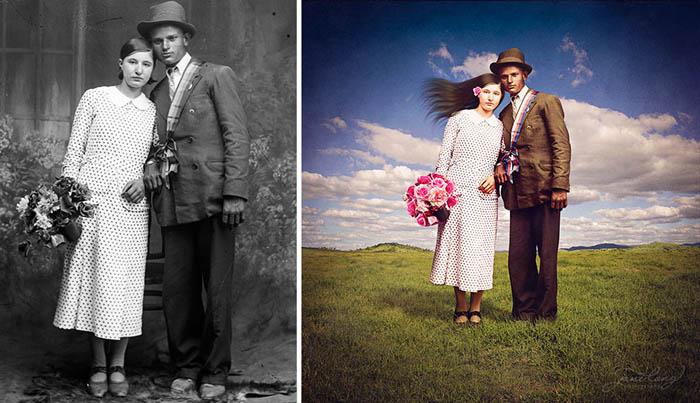 Fresh - старые фотографии обретают цвет и новый контекст.