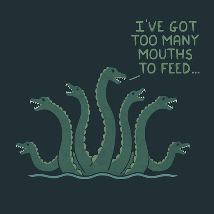 Мне надо прокормить много ртов!