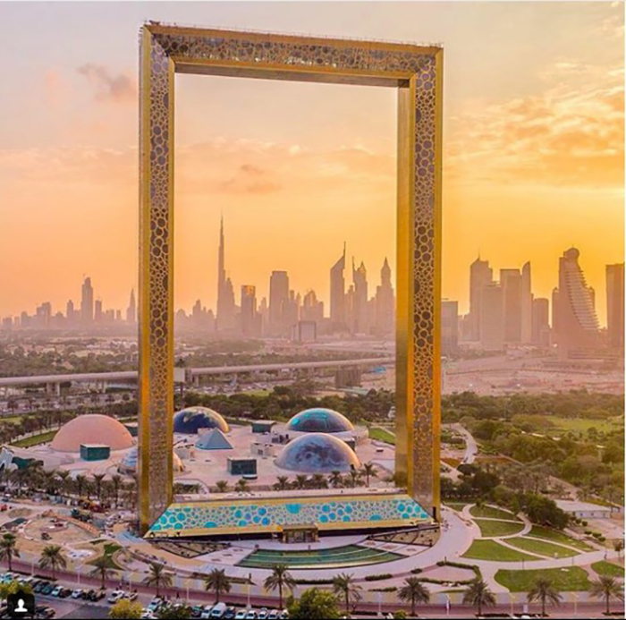 Рамка Дубая - новая достопримечательность ОАЭ.