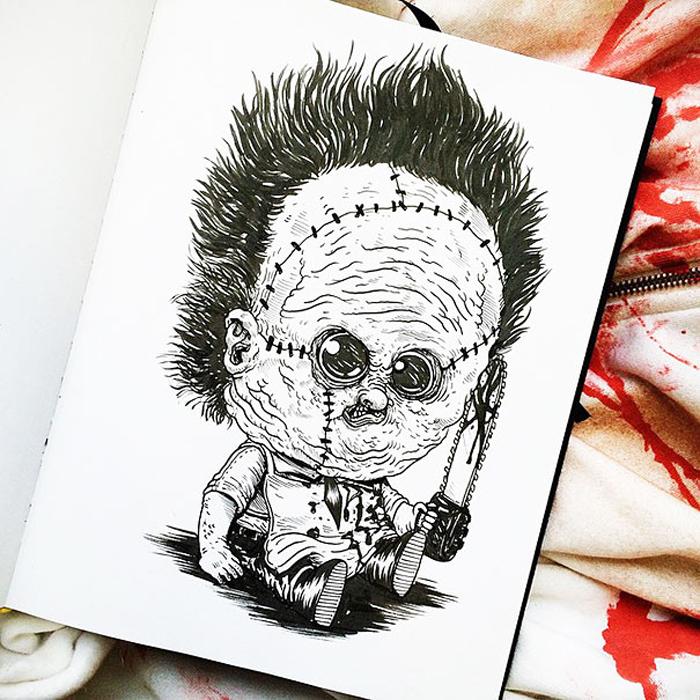 Малыш Кожаное-лицо.