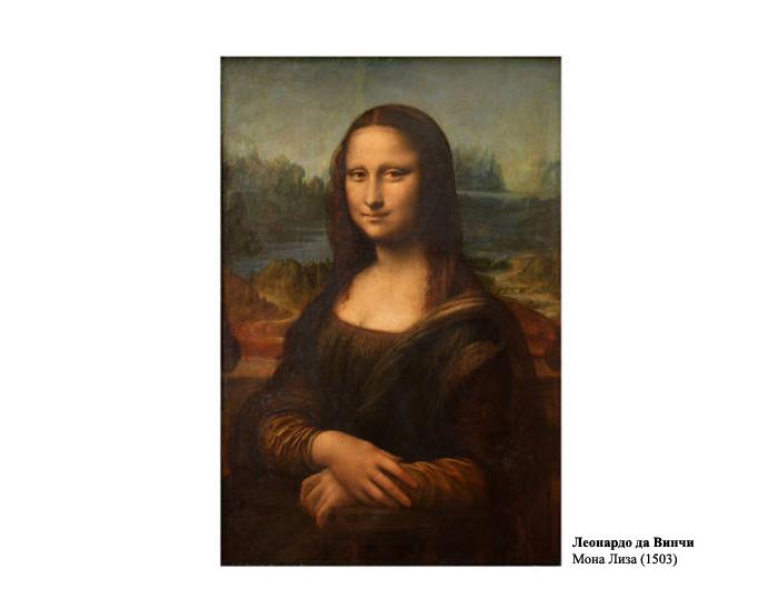Леонардо Да Винчи *Мона Лиза* (1503).