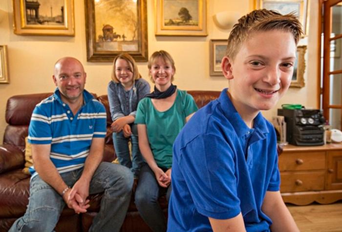 Кирон Уильямсон и его семья.