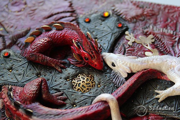 Драконы из полимерной глины от Mandarin Duck.