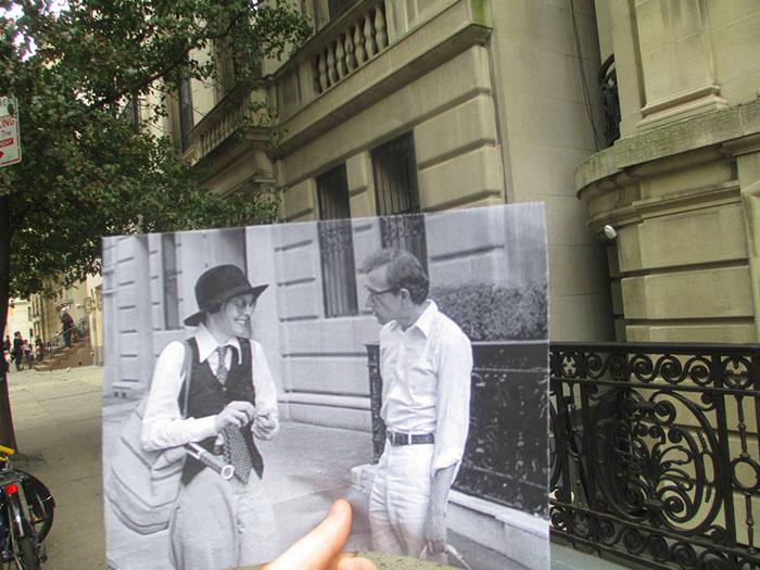 Вуди Аллен и Дайан Китон в фильме «Энни Холл» на улицах Нью-Йорка.