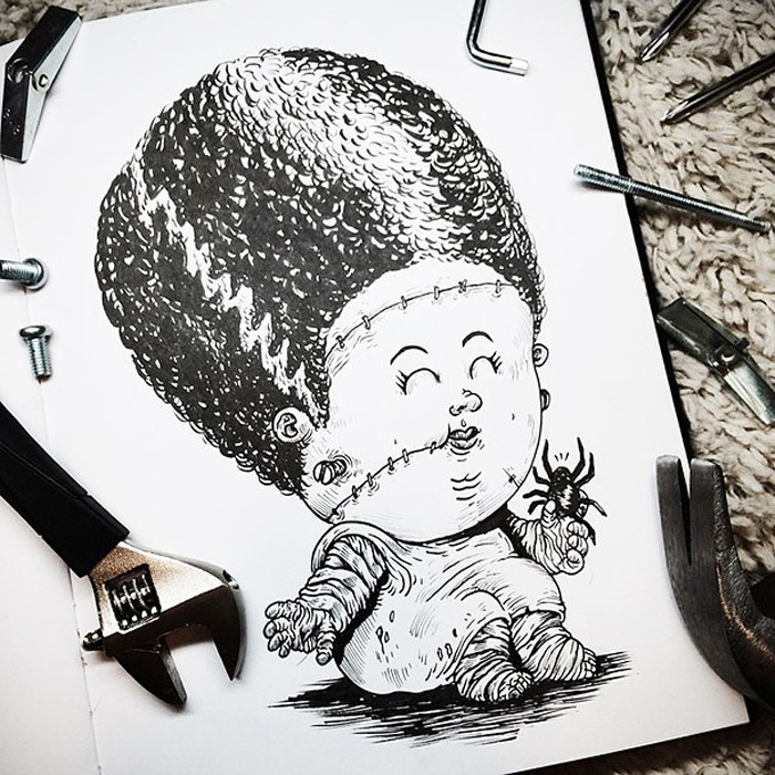 Малышка невеста Франкенштейна.
