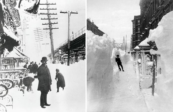 Нью-Йорк после Великой метели в 1888г.