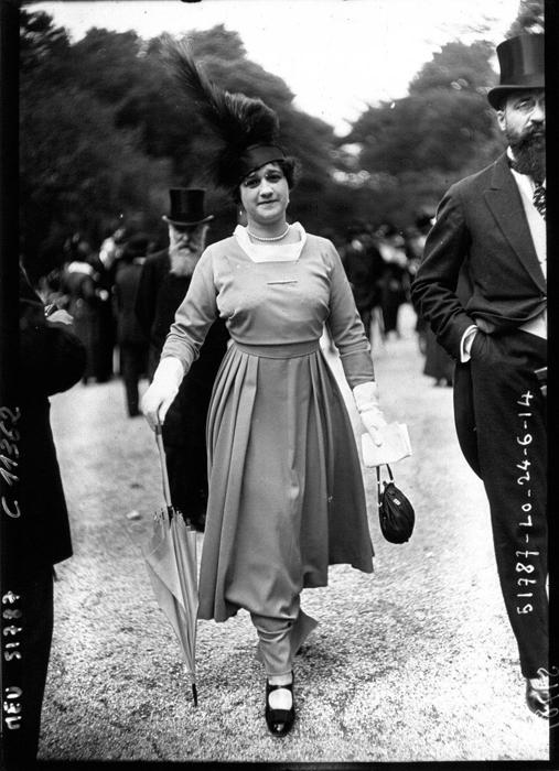 Узкая в щиколотках юбка платья. 1914г.