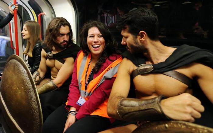 Фотография со спартанцами на память.