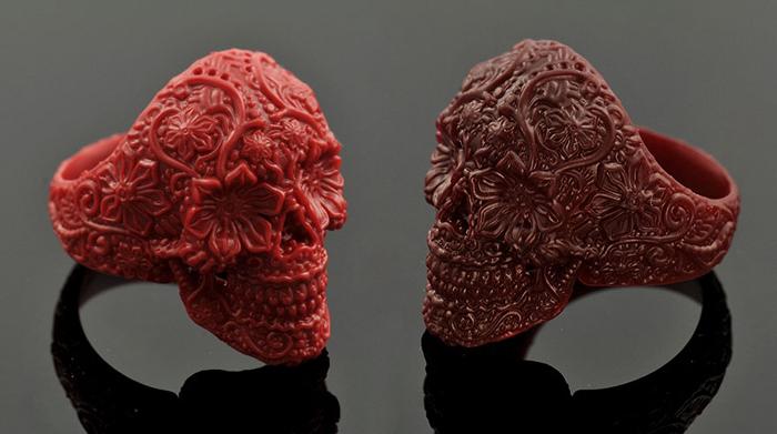 Перстни, напечатанные на 3D-принтере.