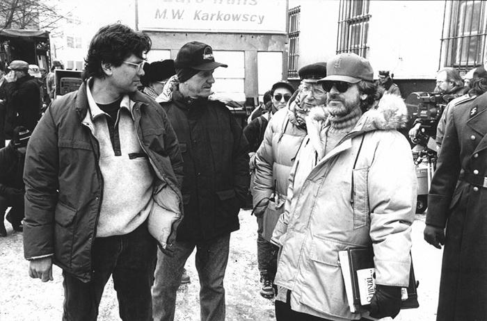 Стивен Спилберг во время съемок «Списка Шиндлера».