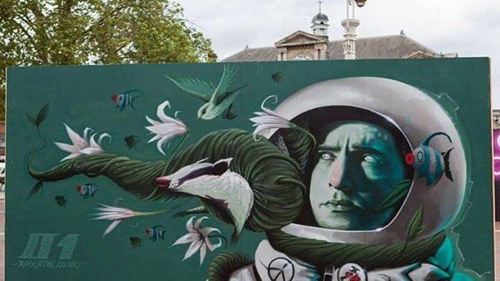 Работы лондонского уличного художника. Instagram rocket01.c0.uk