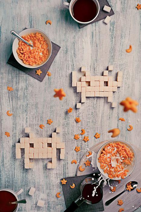Восьмибитный завтрак: Space Invaders. Автор фото: Dina Belenko.