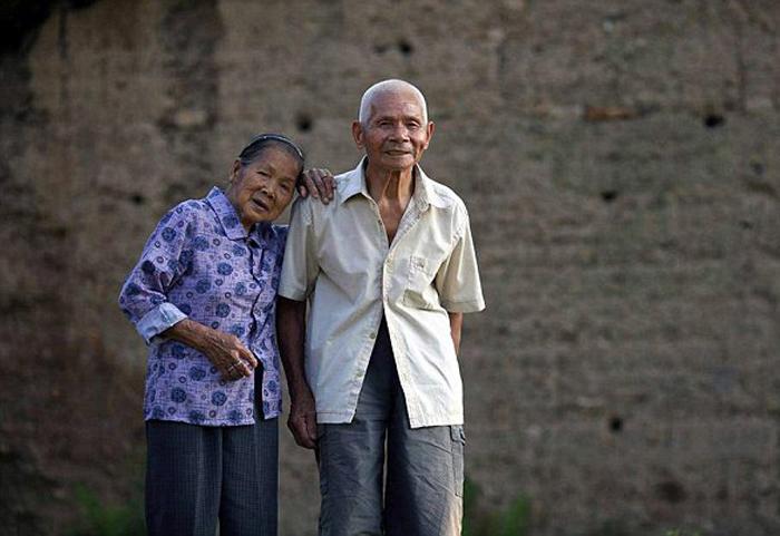 Басао и Кишоу Вей, 96 лет вместе.