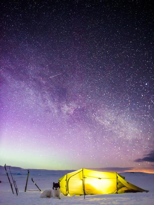 Ночевка в палатке.