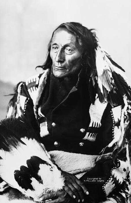 Вождь племени Кри Бобтейл. Альберта, 1886 г.  Автор фото: Alex Ross.