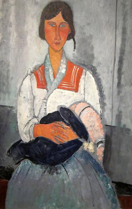Цыганка с ребенком. 1919 г. Национальная галерея искусств.