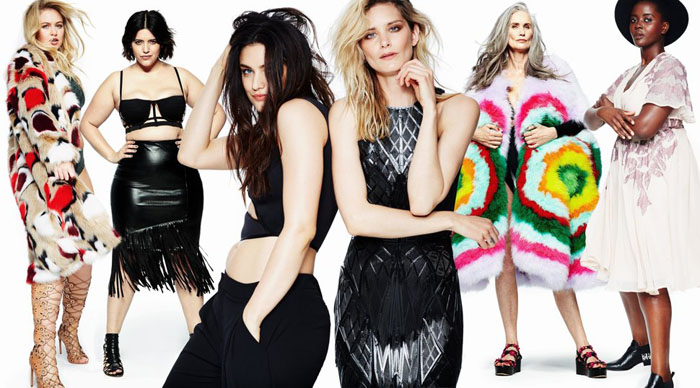 Женские фигуры не сводятся к стандартным худым белокожим моделям, которых показывают журналы мод.