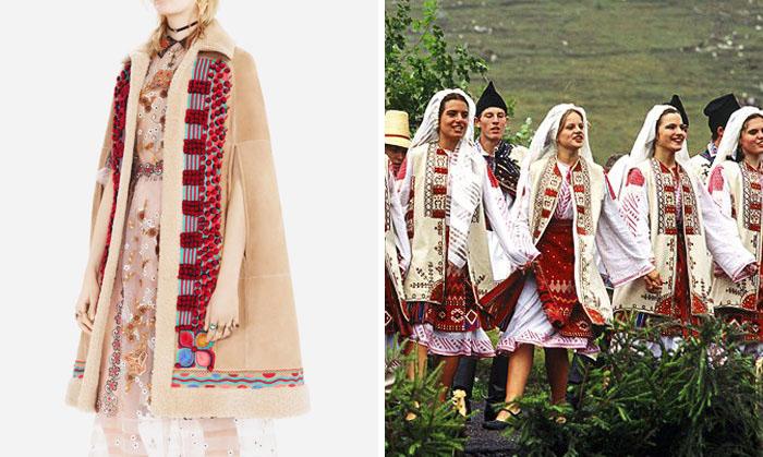 Пальто от Dior и одежда народа в Румынии.