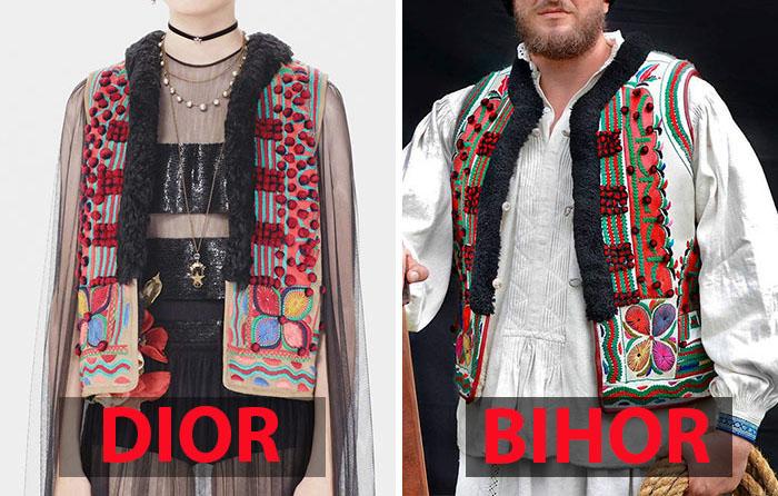 Одежда от Dior и национальная одежда Бихора.