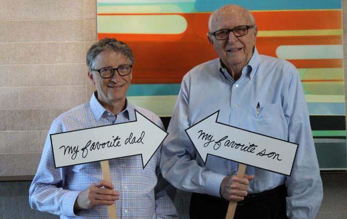 Билл Гейтс со своим отцом.